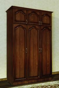 Шкаф 3-х дверный  - фасад  МДФ  (с карнизом)